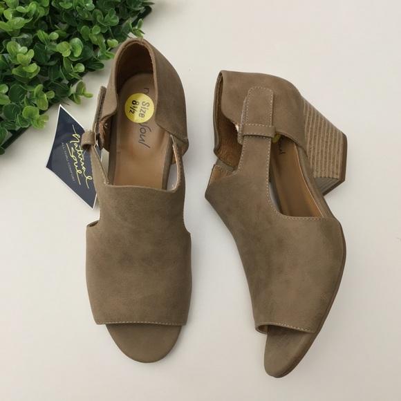 f15f3f86fcb Daya Dressy Peep Toe Bootie Sandals Taupe Tan
